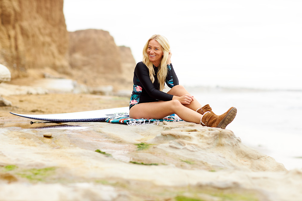 Beach lifestyle portrait