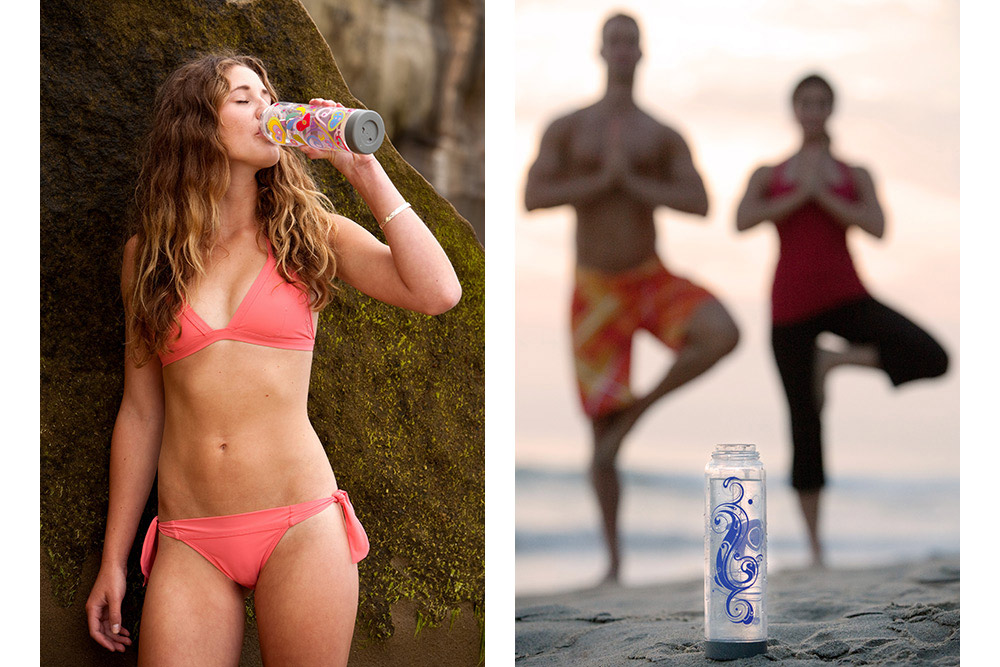 water bottle lifestyle advertising photos