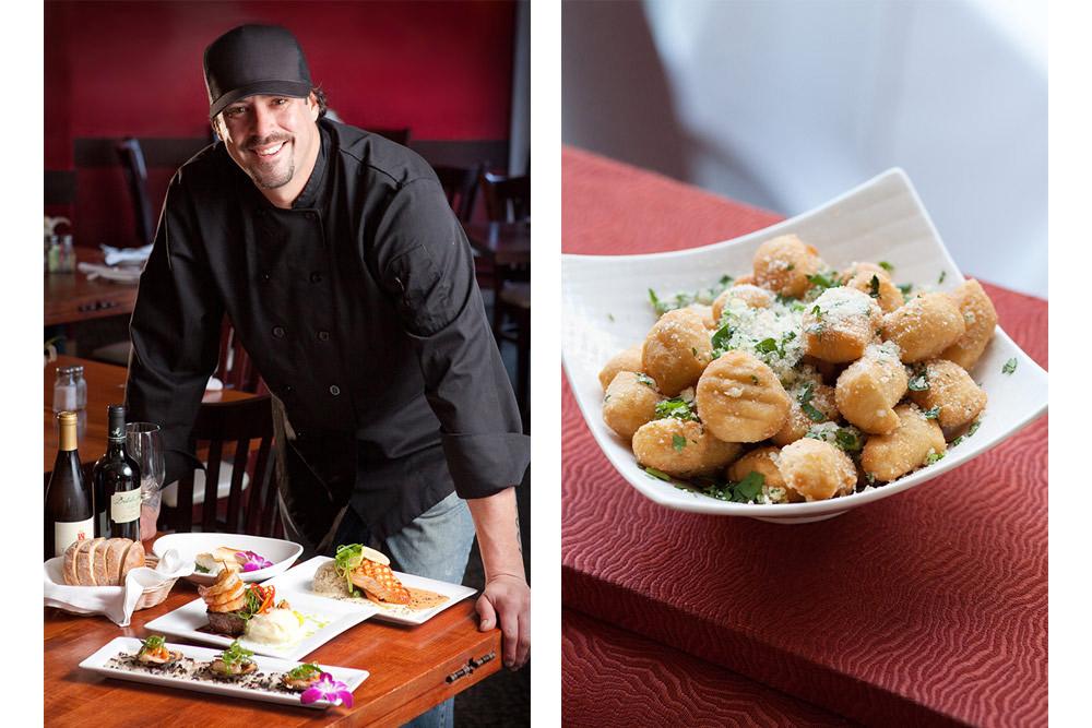 chef portrait and food photo