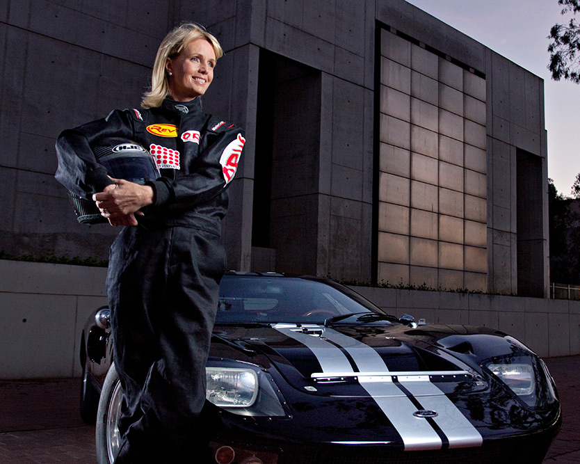 race car driver portrait