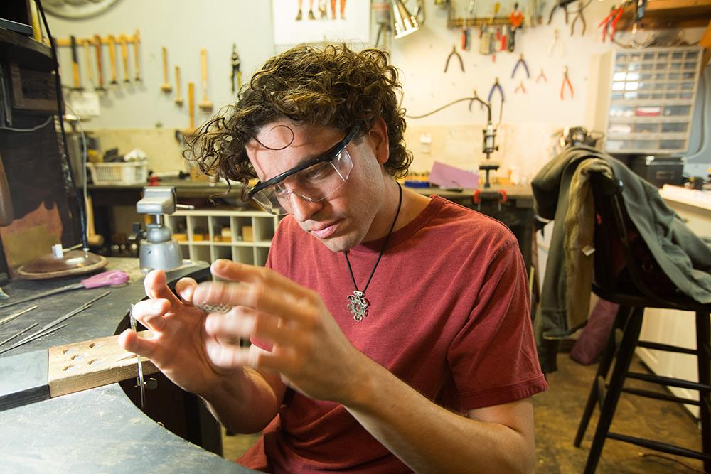 jewelry making portrait