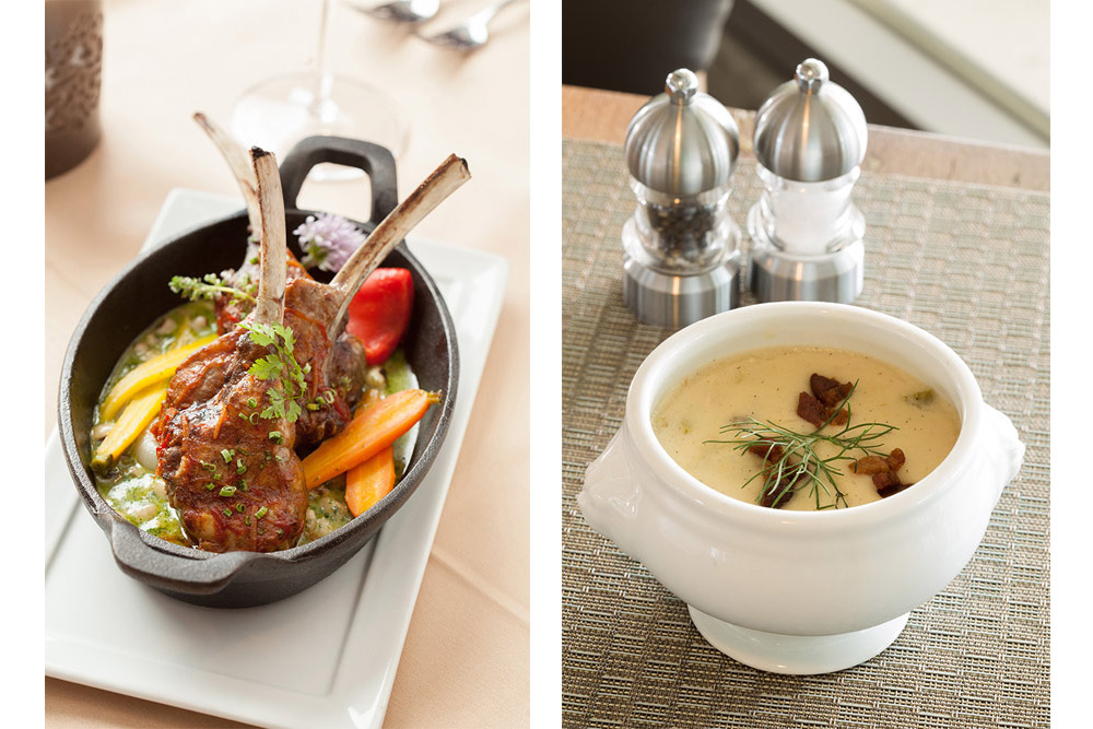 Food photos: rack of lamb and soup
