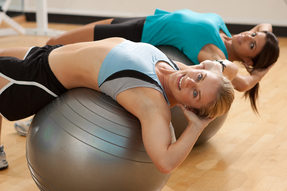 stability ball fitness photo