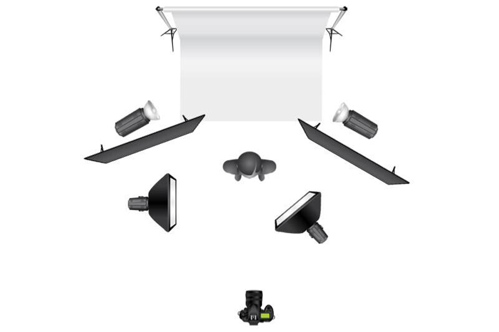 white background lighting diagram