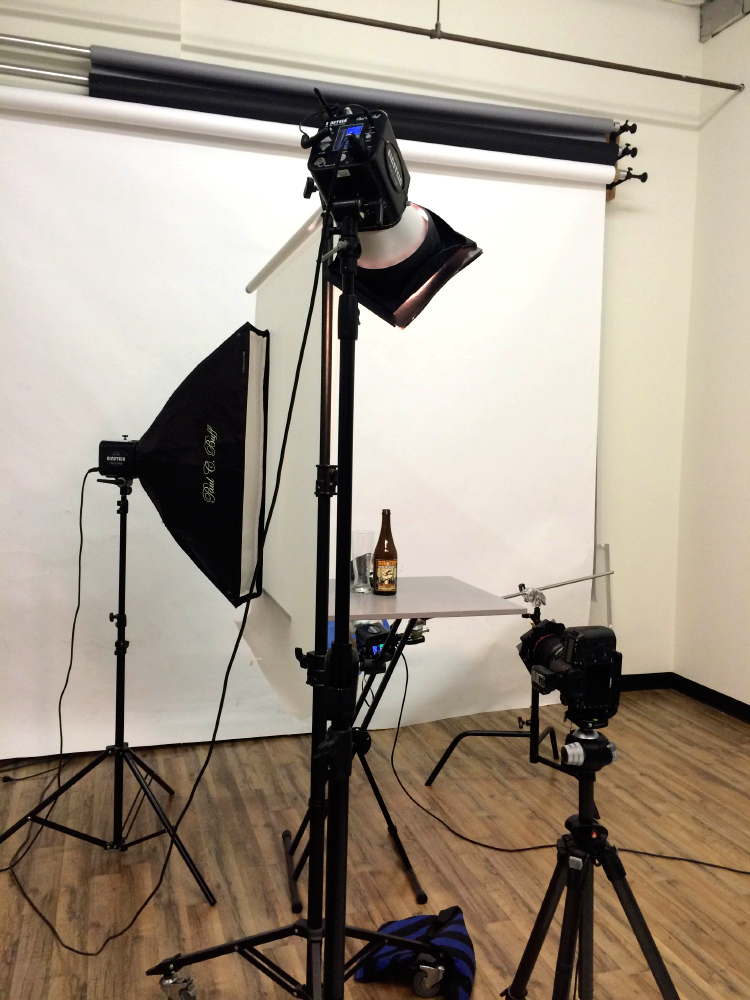beer lighting setup