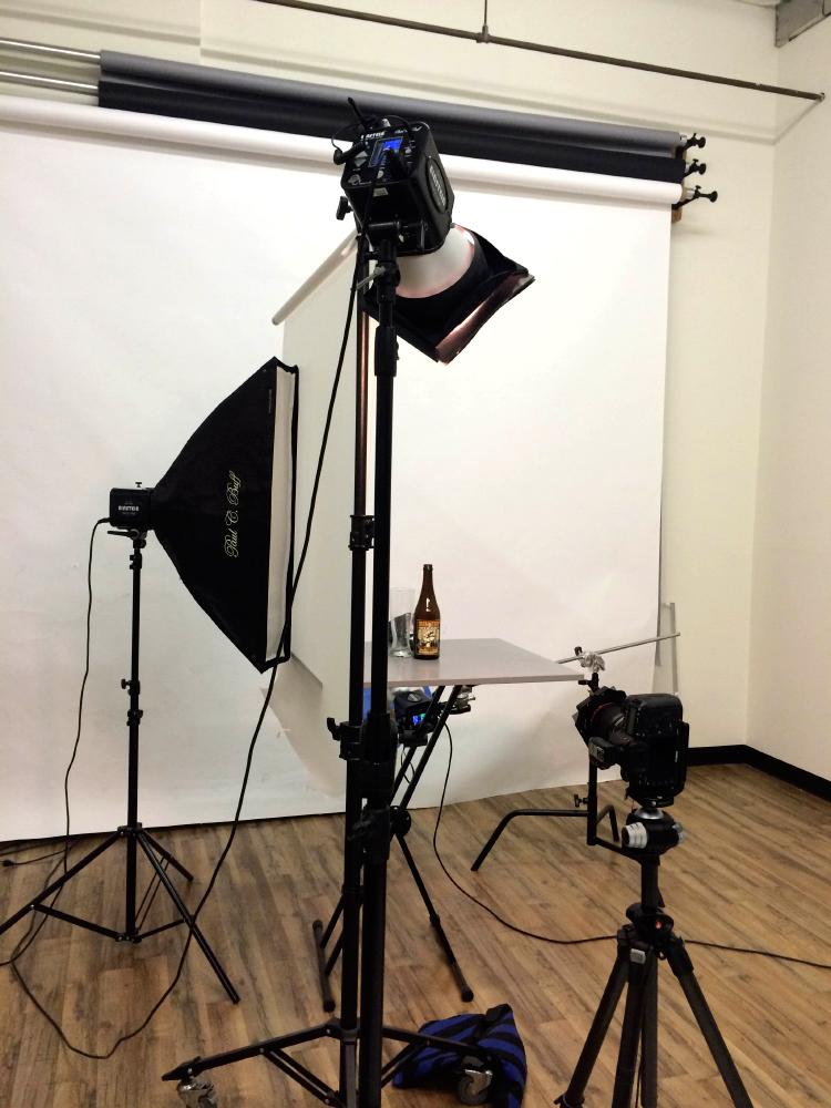 beer lighting setup
